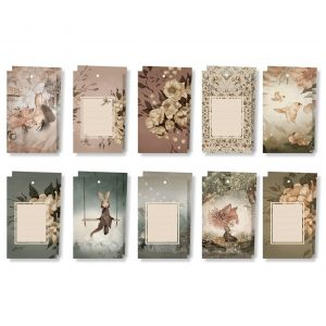 Gift tags Flowers and Tivoli 10-pack, Mrs. Mighetto