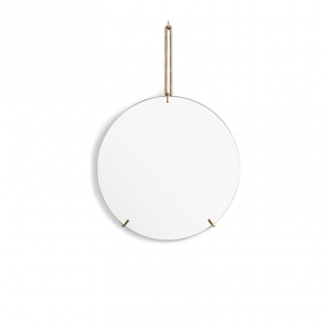 Spegel Ø30cm WALL MIRROR brass, MOEBE