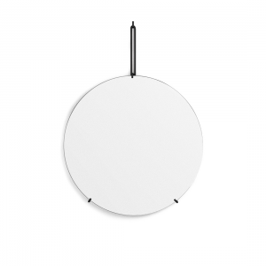 Spegel Ø50cm WALL MIRROR black, MOEBE