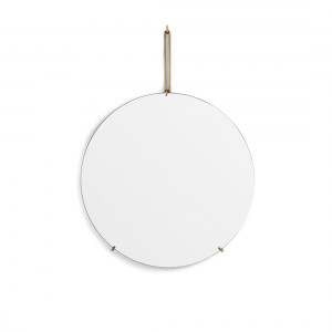 Spegel Ø50cm WALL MIRROR brass, MOEBE