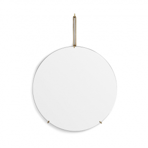 Spegel Ø70cm WALL MIRROR brass, MOEBE