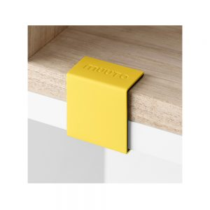 Stacked klämma/clips - yellow, 5-pack