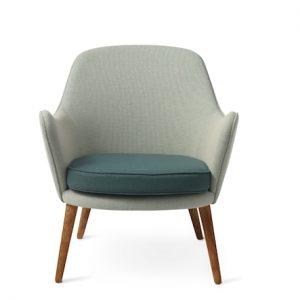Dwell Lounge Chair Light cyan/Dark cyan Merit