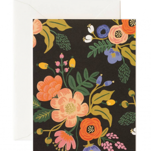 Vintage Lively Floral Black card, Rifle Paper Co